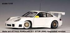 AUTOart 77822 PORSCHE 911 GT3R (996) Upgraded version white scale 1:18