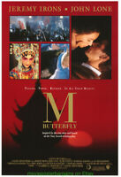 M BUTTERFLY MOVIE POSTER Original 27x40 Rolled 1993  JEREMY IRONS