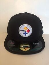 quality design 219e0 20781 Pittsburgh Steelers New ERA 59Fifty On Field Fitted hat 7 1 8 Black