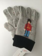 BNWT CATH KIDS CATH KIDSTON BOY'S SOLDIER GUARDSMAN KNITTED GLOVES ONE SIZE
