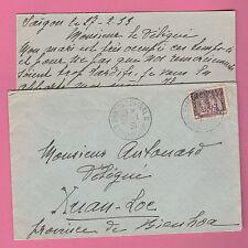 Sur Envel; 1 timbre CAD COCHINCHINE Saïgon du 27-2-1933 + XUANLOC + Errinophilie