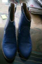 chaussure botte botillon bleue petit talons femme pointure 40 tres bon état