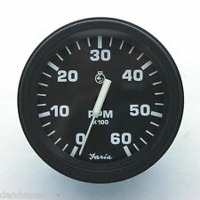 Faria Gasoline Engine Tachometer NOS tested by D&M Restoration