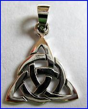 Sterling Silver (925)  Celtic Knot Triangle  Pendant  !!      Brand  New  !!