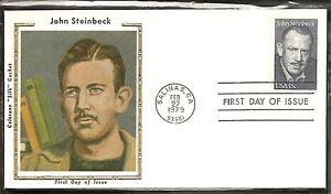 US Scott # 1773 John Steinbeck FDC. Colorano Silk Cachet