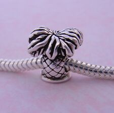 STERLING SILVER HOLIDAY PALM TREE EUROPEAN BEAD CHARM