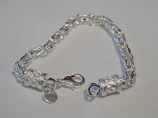 lovely 925 silver trendy chunky link bracelet aprox 20cm uk seller