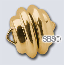 """11mm (Mag-Lok) Magnetic Clasp """"Gold plated"""" (12 Sets) Made in USA"""