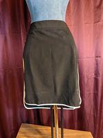 NEW Worthington Black Athletic Skirt w/Neon Yellow Stripe Womens 6 NWT Closet24*