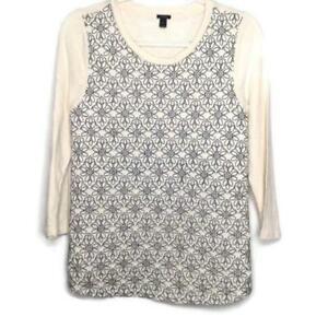 J Crew Black Label Embroidered Sweatshirt Size Medium