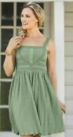 Matilda Jane Womens Joanna Gaines Grass Roots Dress Size Small Green NWT