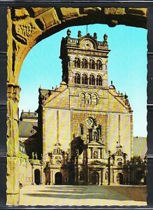 Germany 1963 post card used Mi 406 Trier The Basilica of St Mathias