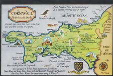 Maps Postcard - Map of Cornwall - The Delectable Duchy RS1905