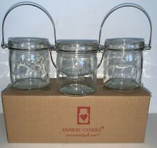 "Yankee Candle 3"" MASON JAR Set Of 3 / New In Box"