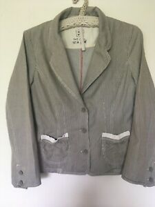 NOA NOA Pretty striped jacket with lace detail size S
