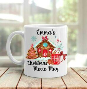 Christmas Movie mug, personalised Christmas mug any name, Christmas movies