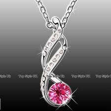 Infinity Diamond Love Necklace Crystal Pendant Silver Jewellery Gifts for Her F6