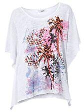 Oversized-Shirt, Heine. Weiß bedruckt. NEU!!! KP 49,90 € SALE%%%