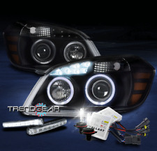 2005-2010 CHEVY COBALT HALO LED BLACK PROJECTOR HEADLIGHTS LAMP W/DRL SIGNAL+HID