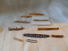 Assorted lot of 10 scarf, collar pins, brooches nice group