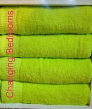 BRIGHT LIME GREEN 500GSM  100% EGYPTIAN COTTON HAND TOWEL AND FACE CLOTH SET