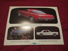 NOS 1965 FORD MUSTANG COUPE CONVERTIBLE FASTBACK OVERSIZED DEALER PROMO POSTCARD