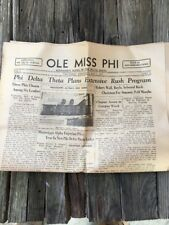 1937 Ole Miss Phi, Mississippi Alpha Of Phi Delta Theta Newspaper May 6 1937