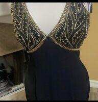 Rickie Freeman For Tj Nites Dress Size 6 Silk Vintage