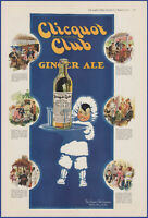 Vintage 1917 CLICQUOT CLUB Ginger Ale Soda Pop Drink Kitchen Ephemera Print Ad