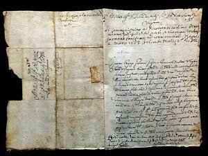 ANTIQUE LETTER 1583