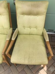 Mid century Cintique arm chair - 1 of 2 (Ref 21.5.018A)