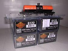B.L.I. #6122  Hooker Chemical 6000 Gal. Tank Cars  w/4 Diff. Car #s  H.O.Gauge