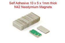 Grado 10pcs N42 rettangolare Forti Magneti al neodimio 10 mm x 5 mm x 1 mm