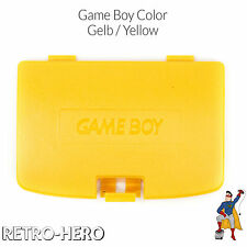 GameBoy Color GBC Akku Batterie Deckel Klappe Battery Game Boy Cover fach - Gelb