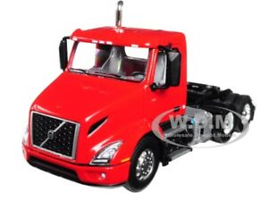 VOLVO VNR 300 DAY-CAB SUN RED 1/64 DIECAST MODEL BY FIRST GEAR 60-0371