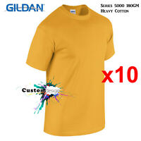 10 Packs Gildan Gold T-SHIRT Basic Tee S - 5XL Men Heavy Cotton