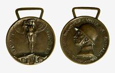 pcc2128_173) Medaglia 1915-18 Guerra x unità d'Italia Coniata nel bronzo nemico