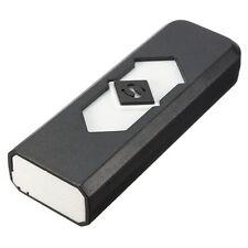BRIQUET tempête USB rechargeable ECOLOGIQUE SANS GAZ NI ESSENCE NOIR