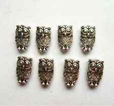 50 pcs Tibetan silver owl Charm Spacer beads 10x6 mm