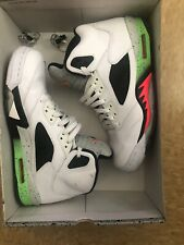 Men's Air Jordan 5 Retro Poison Green 136027-115 Pro Star Infrared Size 10.5