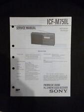 ORIGINAL SERVICE MANUAL SONY icf-m750l