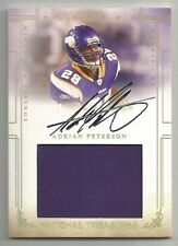 2007 Adrian Peterson National Treasures AUTO JUMBO PATCH GOLD Rc 22/25 Vikings