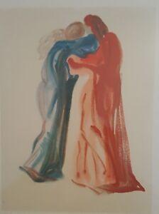 Salvador Dali ~ DEVINE COMEDY Dante n Beatrice Artist Proof Hand  Signed Matted