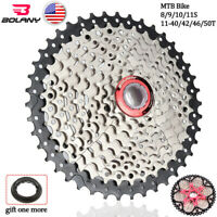 8/9/10/11S MTB Bike Cassette 11-40/42/46/50T Sprocket Chain Fit Shimano/SRAM/KMC