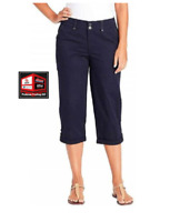 Gloria Vanderbilt Womens' Cuffed Utility Capri, Midnight Affair(Navy) E-13.11 IC