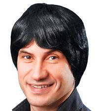 Mens Short Black Wig Metro Sexual Geek Nerd Stag Do Night Fancy Dress