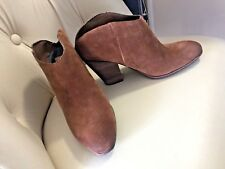 Dolce Vita Helms Mules Suede Womans 7.5 New Booties Boots Clogs Brown Festival