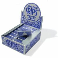 RIPS KING SIZE BLUE CIGARETTE PAPERS ROLL 24 ROLLS FULL BOX