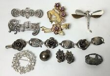 Sterling Silver Jewerly Lot 9 Pc 1920s- 40s- 50s - Modern (Not Scrap) (S52)