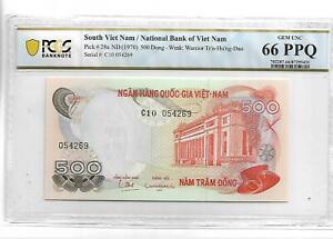 South Viet Nam/National Bank of Viet Nam Pick#28a 1970 500 Dong PCGS 66 PPQ